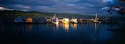 Boats Moored on Jetty, Tasmania, Australia