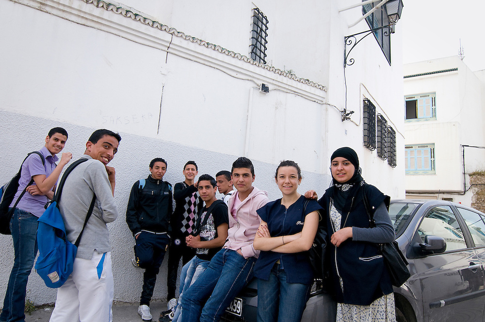 TUNISIA, TUNIS: The school Rue du Pacha used to be a famous school for girls where prominent women were educated. Nowadays it's a school for girls and boys. Co-education is the norm. Many Tunisians fear that with the rise of Islam co-education could be at stake.