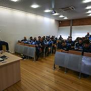 Roma 31/01/2017 <br /> CPO Giulio Onesti<br /> Allenamento nazionale italiana<br /> Gli azzurri in aula per la riunione tecnica