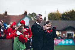 Bristol City Women Manager Willie Kirk celebrates a goal - Rogan Thomson/JMP - 06/11/2016 - FOOTBALL - The Northcourt Stadium - Abingdon-on-Thames, England - Oxford United Women v Bristol City Women - FA Women's Super League 2.