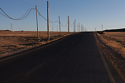 Syria.<br /> A empty road south east idlib countryside, Syria,<br /> 15th June 2013<br /> Picture by Daniel Leal-Olivas / i-Images