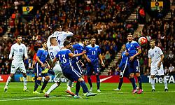 Ruben Loftus-Cheek of England U21 fires a header at goal  - Mandatory byline: Matt McNulty/JMP - 07966386802 - 03/09/2015 - FOOTBALL - Deepdale Stadium -Preston,England - England U21 v USA U23 - U21 International