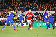 Middlesbrough midfielder Lewis Wing (26)  during the EFL Sky Bet Championship match between Middlesbrough and Ipswich Town at the Riverside Stadium, Middlesbrough, England on 29 December 2018.