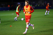 Adam Thompson warms up before the The FA Cup match between Solihull Moors and Rotherham United at the Automated Technology Group Stadium, Solihull, United Kingdom on 2 December 2019.