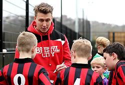 Luke Freeman of Bristol City signs autographs during The BCCT EFL Kids Cup - Mandatory by-line: Robbie Stephenson/JMP - 23/11/2016 - FOOTBALL - South Bristol Sports Centre - Bristol, England - BCCT EFL Kids Cup