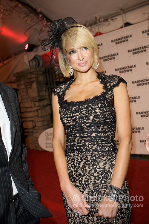 Paris Hilton attends the Barnstable Brown Party in Louisville, KY. Photo by Michael Hickey