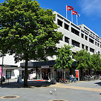 Pedestrian Street Named Markens Gate in Kristiansand, Norway <br />