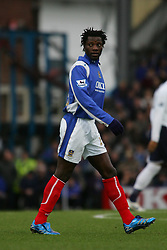 PORTSMOUTH, ENGLAND - MONDAY, JANUARY 1st, 2007: Benjani of Portsmouth against Tottenham Hotspur during the Premiership match at Fratton Park. (Pic by Chris Ratcliffe/Propaganda)