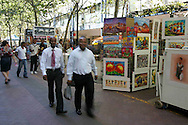 Shoppers in St George's Mall in Cape Town, Western Cape South Africa.Photo by: Ron Gaunt/SPORTZPICS