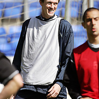 St Johnstone Training...27.04.07<br />Captain Kevin James in good humour during training this morning before tomorrow's first division title clinc game against Hamilton.<br />see story by Gordon Bannerman Tel: 01738 553978 or 07729 865788<br />Picture by Graeme Hart.<br />Copyright Perthshire Picture Agency<br />Tel: 01738 623350  Mobile: 07990 594431