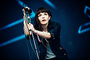 Lauren Mayberry/Chvrches performing live at the Rock A Field Festival in Roeser, Luxembourg on June 29, 2014