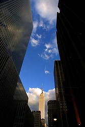 The Empire State Building in a bright New York afternoon on the 22nd of November,2001.