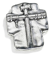 the passion of the christ silver cross