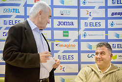 Martin Steiner and  Vladimir Kevo during press conference when Slovenian athletes and their coaches sign contracts with Athletic federation of Slovenia for year 2016, on February 25, 2016 in AZS, Ljubljana, Slovenia. Photo by Vid Ponikvar / Sportida