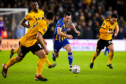 Shaun Whalley of Shrewsbury Town takes on the Wolverhampton Wanderers defence - Mandatory by-line: Robbie Stephenson/JMP - 05/02/2019 - FOOTBALL - Molineux - Wolverhampton, England - Wolverhampton Wanderers v Shrewsbury Town - Emirates FA Cup fourth round replay