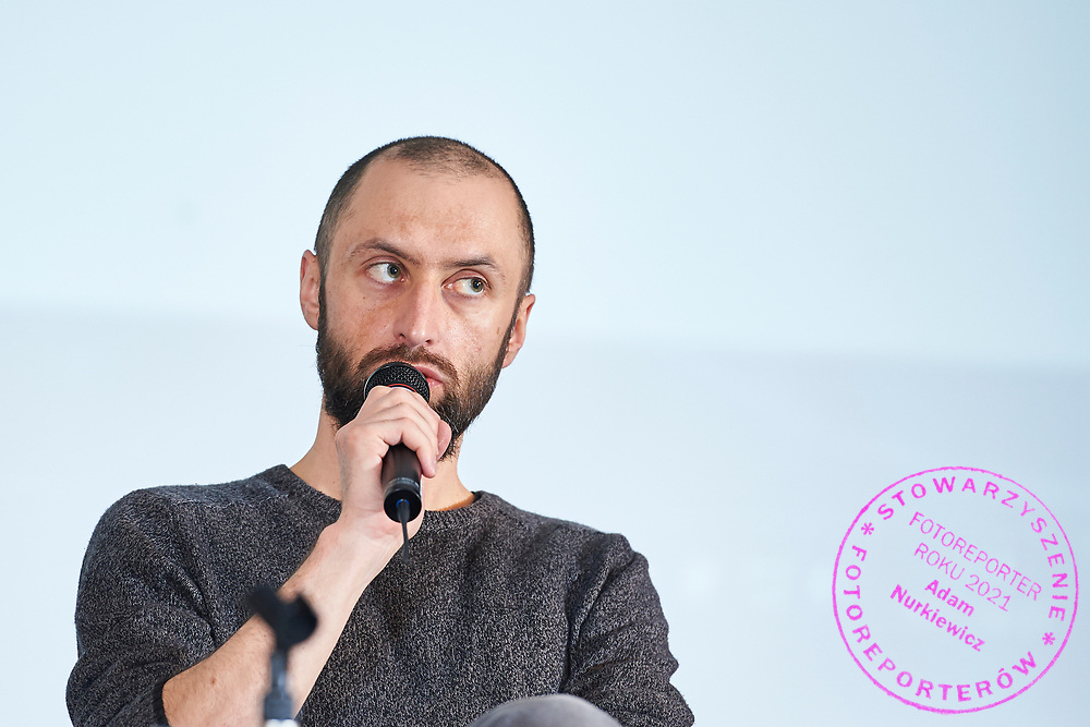 Warsaw, Poland - 2017 April 07: Jakub Jedrak from Polish Smog Alarm speaks during The Day of Health - science conference in the National Library on April 07, 2017 in Warsaw, Poland.<br /> <br /> Mandatory credit:<br /> Photo by © © Adam Nurkiewicz / Mediasport / Mediasport<br /> <br /> Picture also available in RAW (NEF) or TIFF format on special request.<br /> <br /> Any editorial, commercial or promotional use requires written permission from the author of image.<br /> <br /> Adam Nurkiewicz declares that he has no rights to the image of people at the photographs of his authorship.