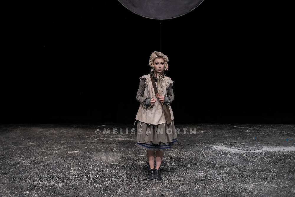 The cast of Arthur Pita's The Little Match Girl perform at a press photocall at The Lilian Baylis Studio, Sadler&rsquo;s Wells, London, UK, on Tuesday 16th December 2014. <br />
