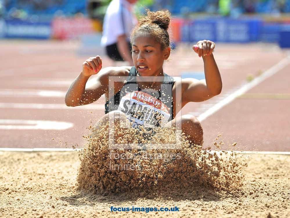 Picture by Alan Stanford/Focus Images Ltd +44 7915 056117<br /> 12/07/2013<br /> Laura Samuel (GBR) Triple jump winner pictured during day two of Sainsbury's British Championship at Alexander Stadium, Birmingham.