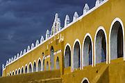 Izamàl, the Convento de San Antonio de Padua, builded on the top of a Mayan pyramid.