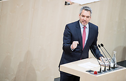 13.12.2017, Hofburg, Wien, AUT, Parlament, Nationalratssitzung, Sitzung des Nationalrates beginnend mit einer Aktuellen Stunde zum Thema Sicherheitspolizeilichen Maßnahmen zur Terrorabwehr, im Bild Nationalratsabgeordneter ÖVP Karl Nehammer // Member of the National Council Karl Nehammer (OeVP) during meeting of the National Council of austria at Hofburg palace in Vienna, Austria on 2017/12/13, EXPA Pictures © 2017, PhotoCredit: EXPA/ Michael Gruber