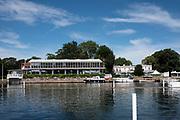 "Henley on Thames, United Kingdom, 23rd June 2018, Saturday,   ""Henley Women's Regatta"",  view, Phyllis Court Club, Henley Reach, River Thames, England, © Peter SPURRIER/Alamy Live News"