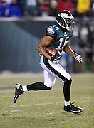 Philadelphia Eagles wide receiver Brad Smith (16) returns a third quarter kickoff to the 35 yard line during the NFL NFC Wild Card football game against the New Orleans Saints on Saturday, Jan. 4, 2014 in Philadelphia. The Saints won the game 26-24. ©Paul Anthony Spinelli