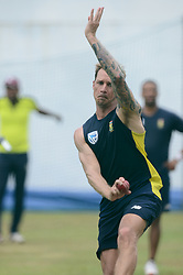 July 5, 2018 - Colombo, Western Province, Sri Lanka - South African most senior  fast bowler Dale Steyn bowling during a practice session at the R. Premadasa Stadium in Colombo on July 5, 2018. - Cricket South Africa will play two Tests, five ODI's and T20I with Sri Lanka between July 12 and August 14. The first Test between South African and Sri Lanka will be played on July 12 at the Galle International Cricket Stadium in Galle. (Credit Image: © Sameera Peiris/Pacific Press via ZUMA Wire)