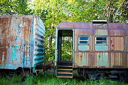 abandoned train found in New England