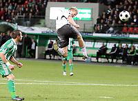 Fotball , 06. november 2008 , UEFA-cup, Saint-Etienne - Rosenborg<br /> St. Etienne , Saint Etienne<br /> Steffen Iversen , RBK header i stangen , men blir avblåst for offside