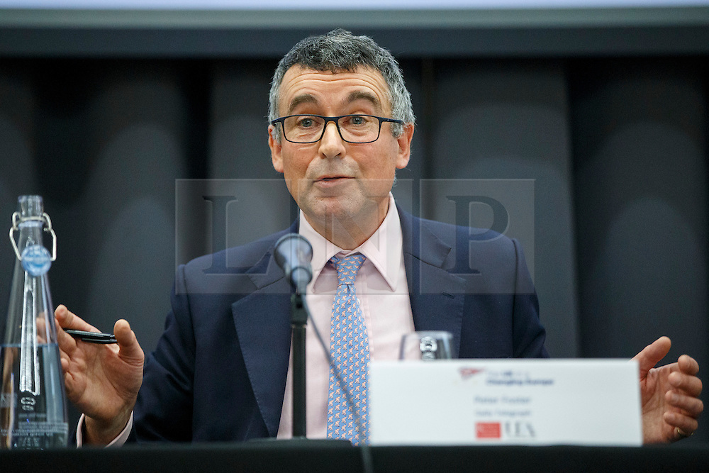© Licensed to London News Pictures. 26/04/2016. London, UK. Vote Leave campaigner BERNARD JENKIN MP giving a speech on EU referendum at 'The UK in a Changing Europe conference' at King's College in London on Tuesday, 26 April 2016. Photo credit: Tolga Akmen/LNP