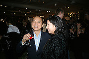 JIMMY CHOO AND BEATRIX ONG, Book launch for ÔThe Measure' edited by Louise Clarke. 	 commissioned by the London College of Fashion. Bluebird. King's Rd. London. 21 November 2007. -DO NOT ARCHIVE-© Copyright Photograph by Dafydd Jones. 248 Clapham Rd. London SW9 0PZ. Tel 0207 820 0771. www.dafjones.com.