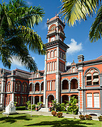 Queens Royal College, one of the Magificent Seven historical buildings in Port of Spain on Trinidad island, Trinidad and Tobago.