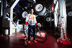 Rio 2016 Paralympic Triathlon Gold Medallist Andy Lewis poses in his place of work, the Airbus A380 Landing Gear Test facility at Filton - Rogan Thomson/JMP - 07/11/2016 - PARALYMPICS - Airbus, Filton - Bristol, England - Bristol Sport Collection Photoshoot.
