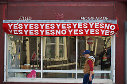 LIVERPOOL, ENGLAND - Thursday, May 5, 2016: Liverpool's Home Baked community bakery with a banner of the Hillsborough Inquest Verdicts before the UEFA Europa League Semi-Final 2nd Leg match against Villarreal CF at Anfield. (Pic by David Rawcliffe/Propaganda)
