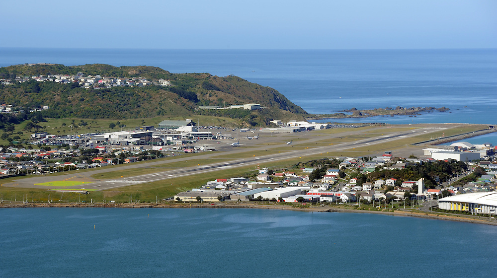 Wellington International Airport runway, Wellington, New Zealand, Friday, October 03, 2014. Credit:SNPA / Ross Setford