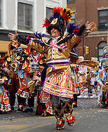 PHILADELPHIA - JANUARY 1:  Fralinger String Band Captain Thomas D'Amore performs during the 2011 Mummers Parade in Philadelphia, Pennsylvania. Thousands of people enjoyed the warmer weather and watched the parade, which has been around for over 100 years. (Photo by William Thomas Cain/Getty Images)