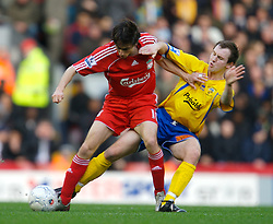 LIVERPOOL, ENGLAND - Saturday, January 26, 2008: Liverpool's Yossi Benayoun and Havant and Waterlooville's Shaun Wilkinson during the FA Cup 4th Round match at Anfield. (Photo by David Rawcliffe/Propaganda)
