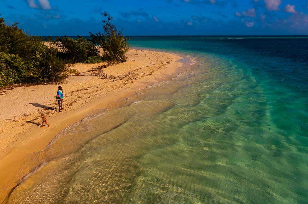 Beach, Mouli, Island of Ouvea, Loyalty Islands, New Caledonia