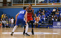Gentry Thomas of Bristol Flyers takes the ball forward - Photo mandatory by-line: Arron Gent/JMP - 28/09/2019 - BASKETBALL - Crystal Palace National Sports Centre - London, England - London City Royals v Bristol Flyers - British Basketball League Cup