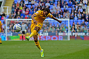 Preston North End Forward Dan Johnson (11) takes a shot at goal during the Sky Bet Championship match between Reading and Preston North End at the Madejski Stadium, Reading, England on 30 April 2016. Photo by Jon Bromley.