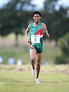GEORGE, SOUTH AFRICA - SEPTEMBER 10: Joel Mmone of Athletics North West (ANW) in the mens 10km  during the 2016 South African Cross Country Championships held at The Olympia School of Skills in Pacaltsdorp on September 10, 2016 in George, South Africa. (Photo by Roger Sedres/Gallo Images)