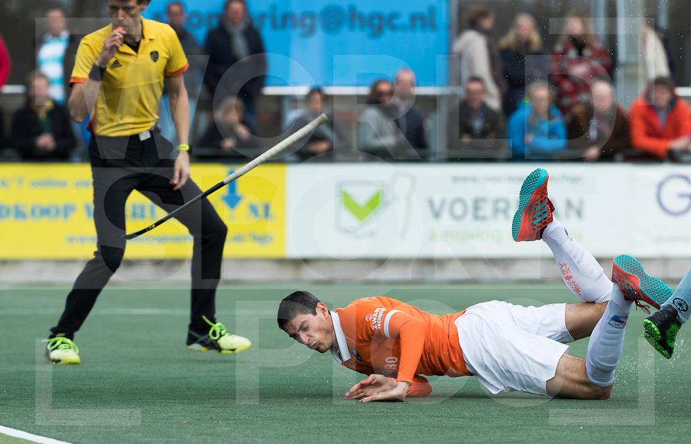 WASSENAAR - Hoofdklasse hockey heren, HGC-Bloemendaal (0-5)  . Xavi Lleonart Blanco (Bldaal) brengt de stand op 0-1.     COPYRIGHT KOEN SUYK
