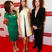 NLD/Amsterdam/20130911 - Lancering Netflix in Nederland, Famke Janssen en zussen Antoinette en Marjolein Beumer