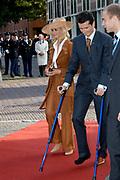 Zijne Hoogheid Prins Floris van Oranje Nassau, van Vollenhoven en mevrouw mr. A.L.A.M. S&ouml;hngen zijn zaterdag 22 oktober in de kerk van Naarden in het  huwelijk getreden. De prins is de jongste zoon van Prinses Magriet en Pieter van Vollenhoven.<br /> <br /> Church Wedding Prince Floris and Aim&eacute;e S&ouml;hngen. <br /> <br /> Church Wedding Prince Floris and Aim&eacute;e S&ouml;hngen in Naarden. The Prince is the youngest son of Princess Margriet, Queen Beatrix's sister, and Pieter van Vollenhoven. <br /> <br /> Op de foto / On the photo;<br /> <br /> <br /> <br /> richard krajicek en Daphne Deckers