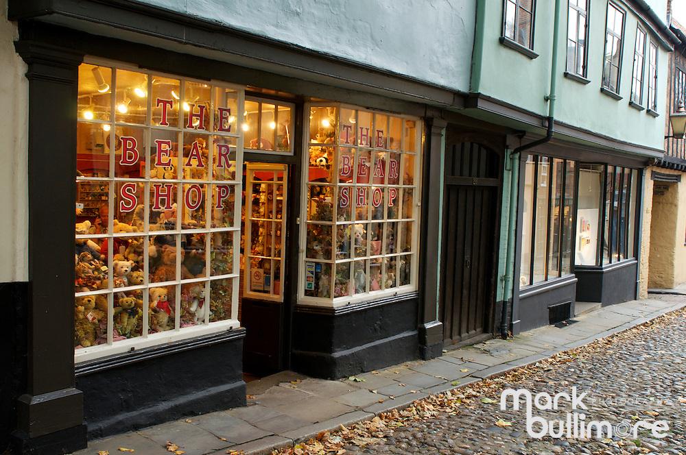 The Bear Shop on Elm Hill in Norwich