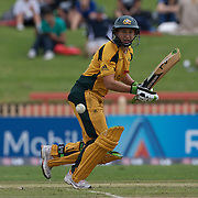 Australian batter Shelley Nitschke in action  during the Australia V New Zealand group A match at North Sydney Oval in the ICC Women's World Cup Cricket Tournament, in Sydney, Australia on March 8, 2009. New Zealand beat Australia by 13 runs in the (D/L method)  rain affected match. Photo Tim Clayton