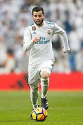 Real Madrid's Spanish defender Nacho Fernandez runs with the ball during the Spanish championship Liga football match between Real Madrid and Villarreal on January 13, 2018 at Santiago Bernabeu stadium in Madrid, Spain - Photo Benjamin Cremel / ProSportsImages / DPPI