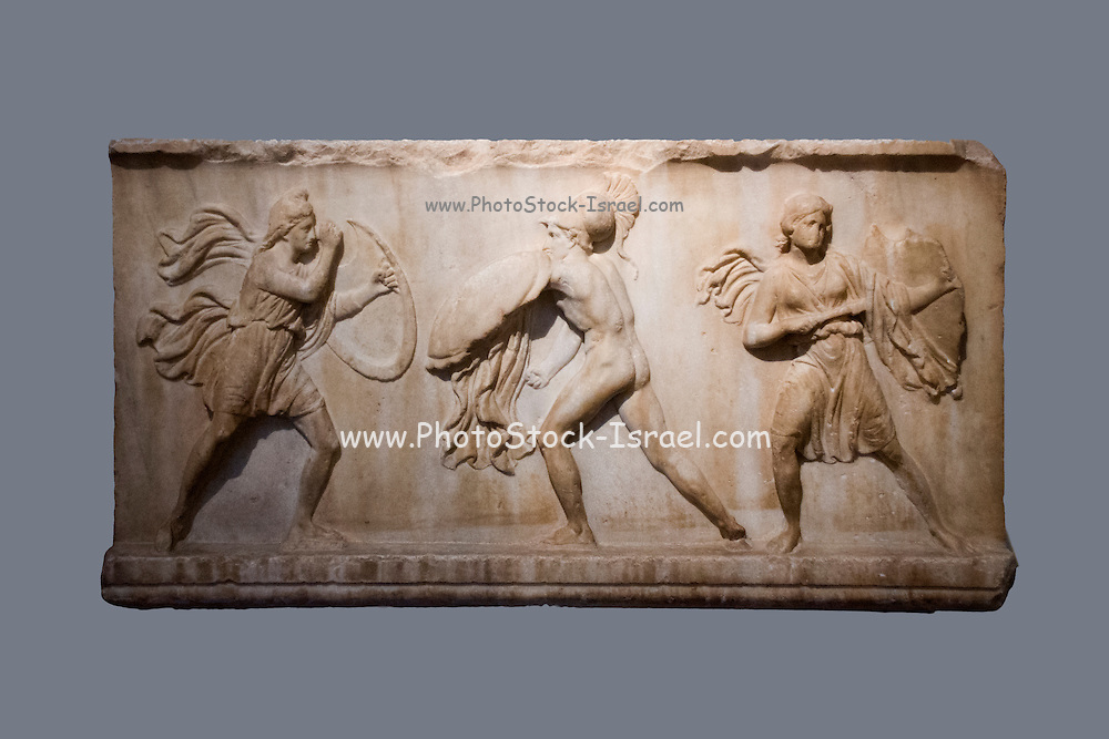 War scene Funerary relief 4th century BCE. Greece, Athens, National Archaeology Museum