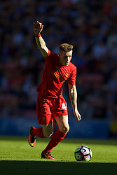 WIGAN, ENGLAND - Sunday, July 17, 2016: Liverpool's Ryan Kent in action against Wigan Athletic during a pre-season friendly match at the DW Stadium. (Pic by David Rawcliffe/Propaganda)