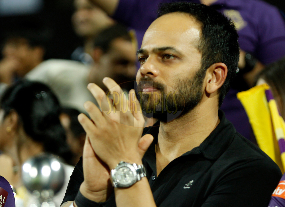 Bollywood director Rohit Shetty during match 70 of the the Indian Premier League ( IPL) 2012  between The Pune Warriors India and the Kolkata Knight Riders held at the Subrata Roy Sahara Stadium, Pune on the 19th May 2012..Photo by Sandeep Shetty/IPL/SPORTZPICS